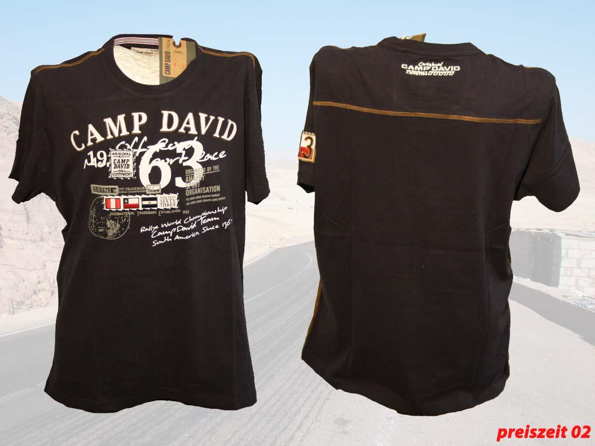 camp david t shirt rallye dakar farbe deep sea gr e l xxxl ebay. Black Bedroom Furniture Sets. Home Design Ideas
